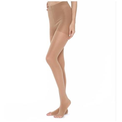 WOLLEX 814 Külotlu Burnu Açık CCL 2 Bej Varis Çorabı